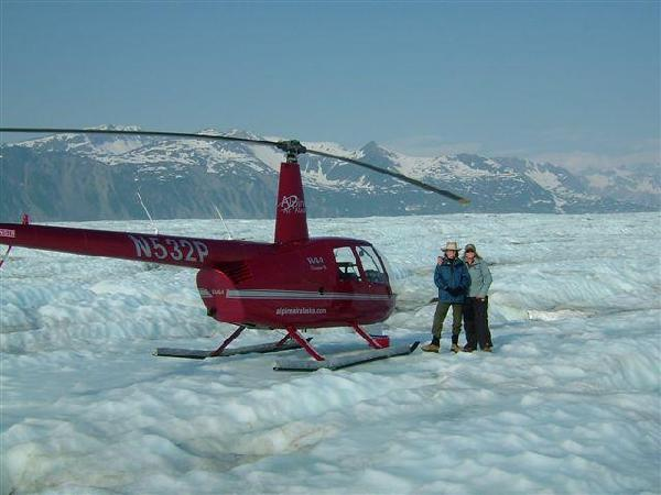 Heli on Glacier