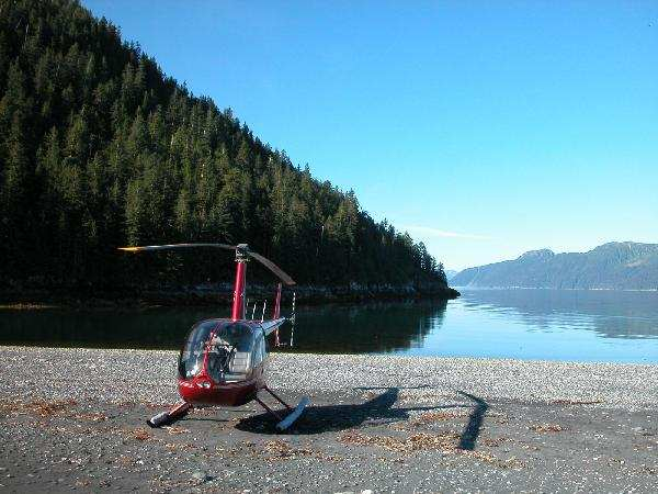 Heli fishing in the pristine wildernes