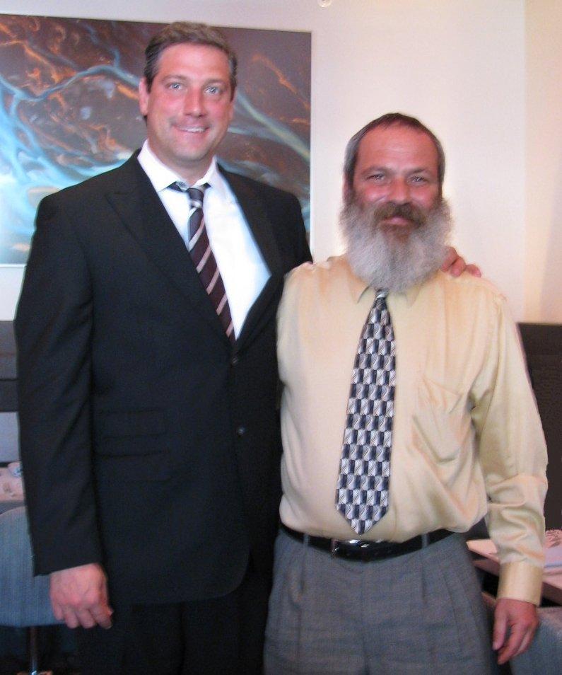 Congressman Tim Ryan and James Lambert