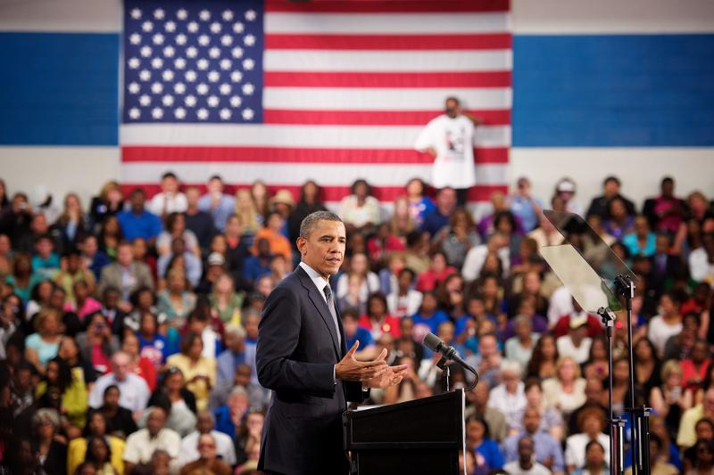 President Obama delivers remarks at Tri-C's Metro Campus