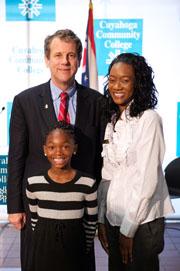 Sen. Brown, Untaya and Antoinette Miller