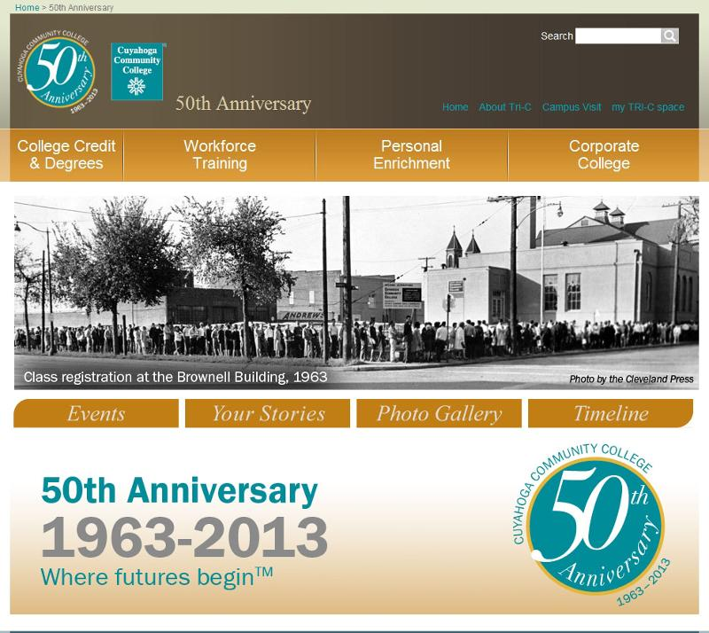 50th Anniversary Website