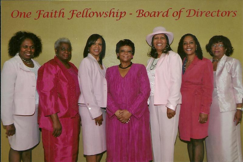 One Faith Fellowship Board of Directors April 13, 2013