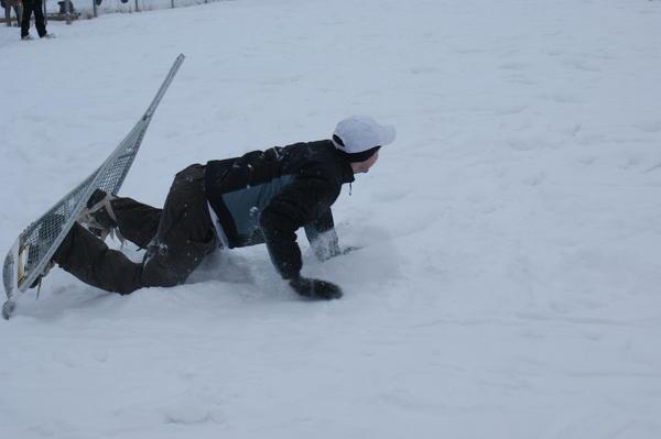 snowshoe falling