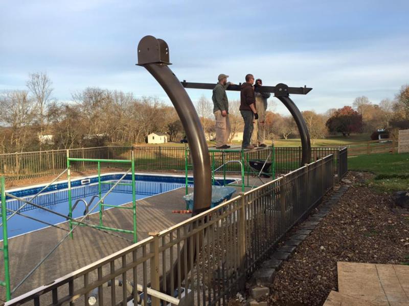 LightWave Solar poolside installation