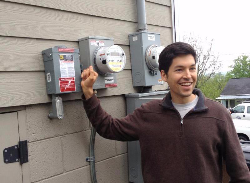 New Solar Homeowner Flips Solar Switch