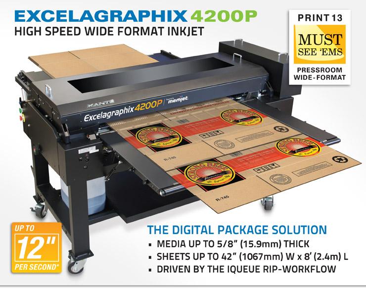 Excelagraphix 4200P High Speed Inkjet