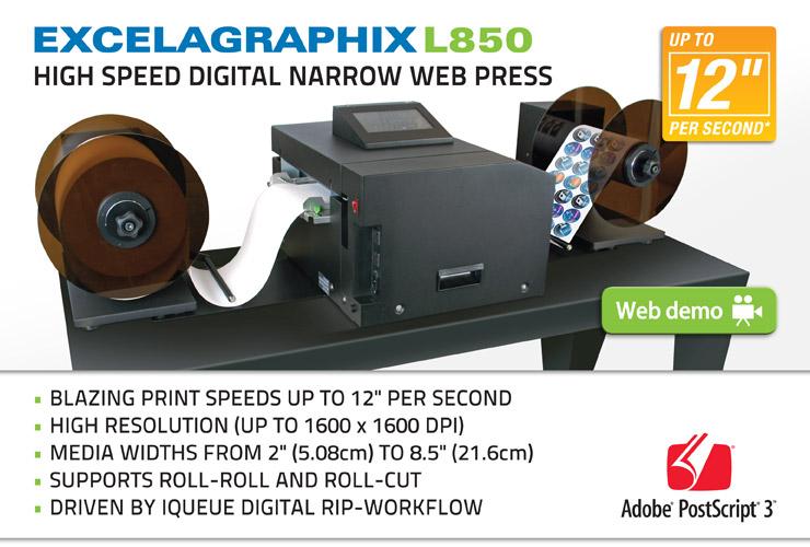 Excelagraphix L850 Digital Label Printer