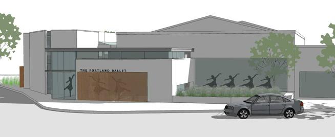 Portland Ballet building rendering
