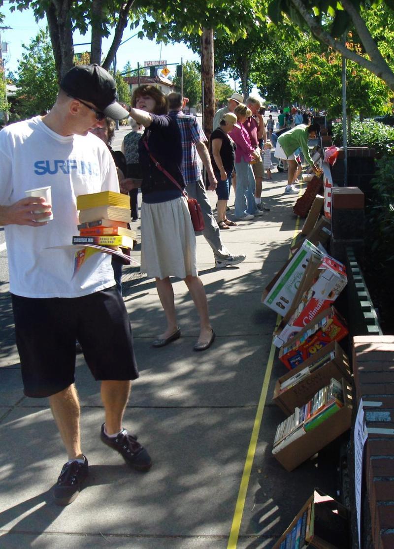 Stroller at book sale