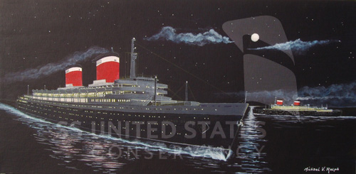 SS United States painting by Michael V. Ralph