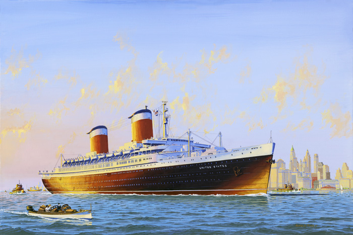 James Flood's painting of the SS United States