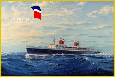 """""""SS United States"""" by James A. Flood"""