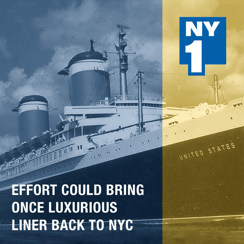 SS United States on NY1