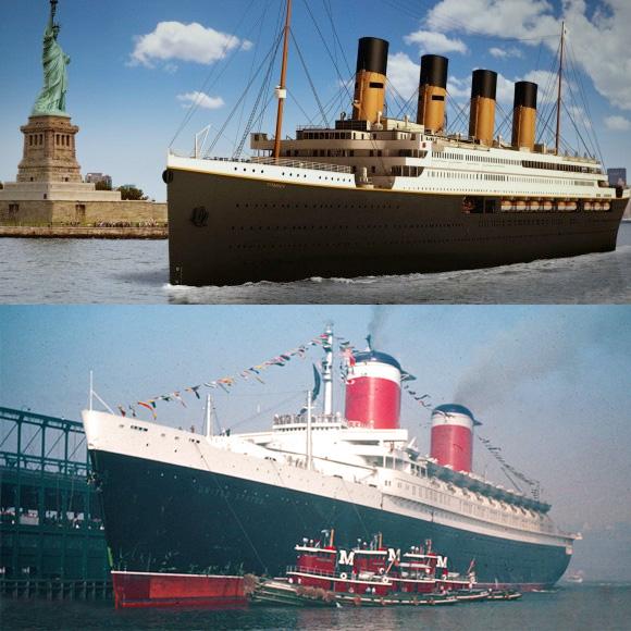 NBC News Travel Contrasts SS United States with Titanic IITitanic Rebuild Progress