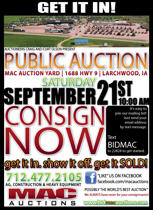 Consign now for our September 21st Auction