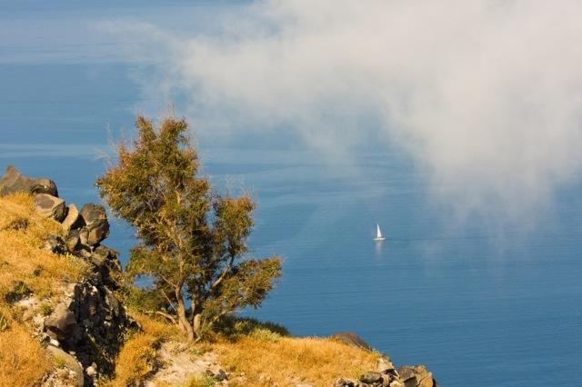 sailboat & mist