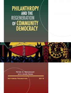 philanthropy & regeneration