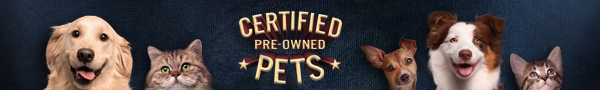 spca certified pre-owned pets banner