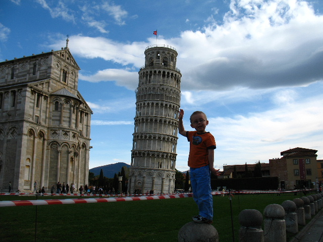 Holding up the Leaning tower