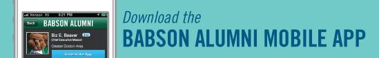 Babson Alumni Mobile App