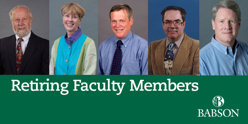 Retiring Babson Faculty