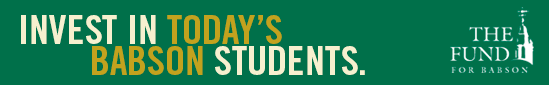 Invest in Today's Babson Students