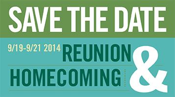 Reunion Homecoming Save the Date