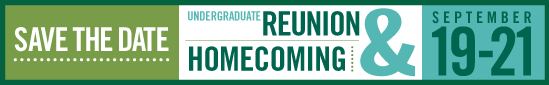 Reunion & Homecoming: September 19-21