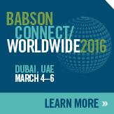 Babson Connect: Worldwide 2016 Dubai, UAE