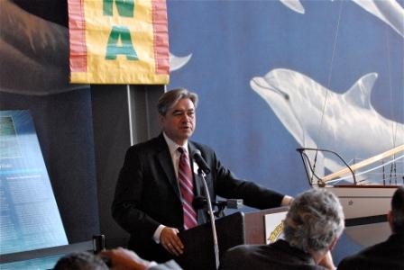 Rep. Cabral at Forum credit Frank Pina