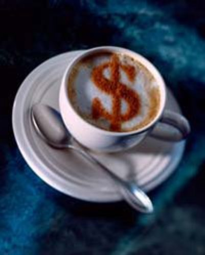 coffee with $ Sign