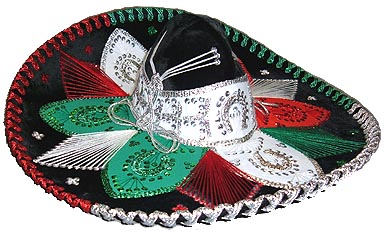 tres colores Sombrero
