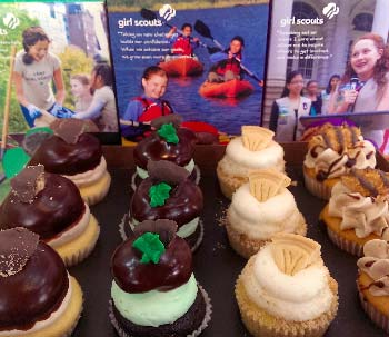 Girl Scout Cookie Cupcakes