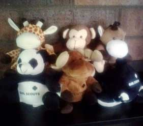 assortment of plush toys