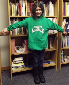 Badgerland youth green hoodie
