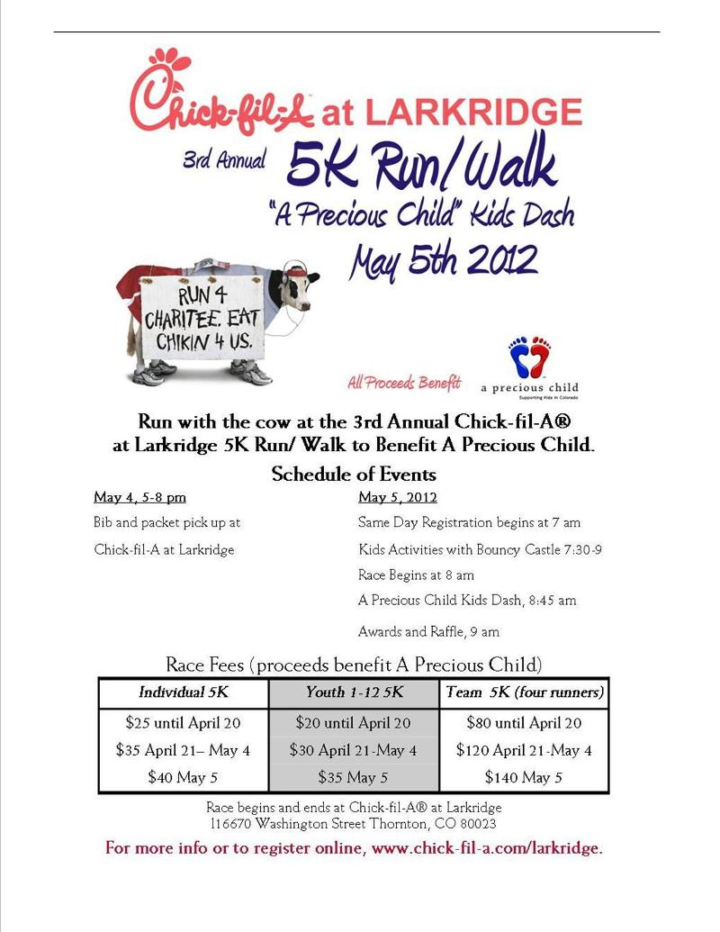 Chick-fil-A Larkridge 5K Run/Walk