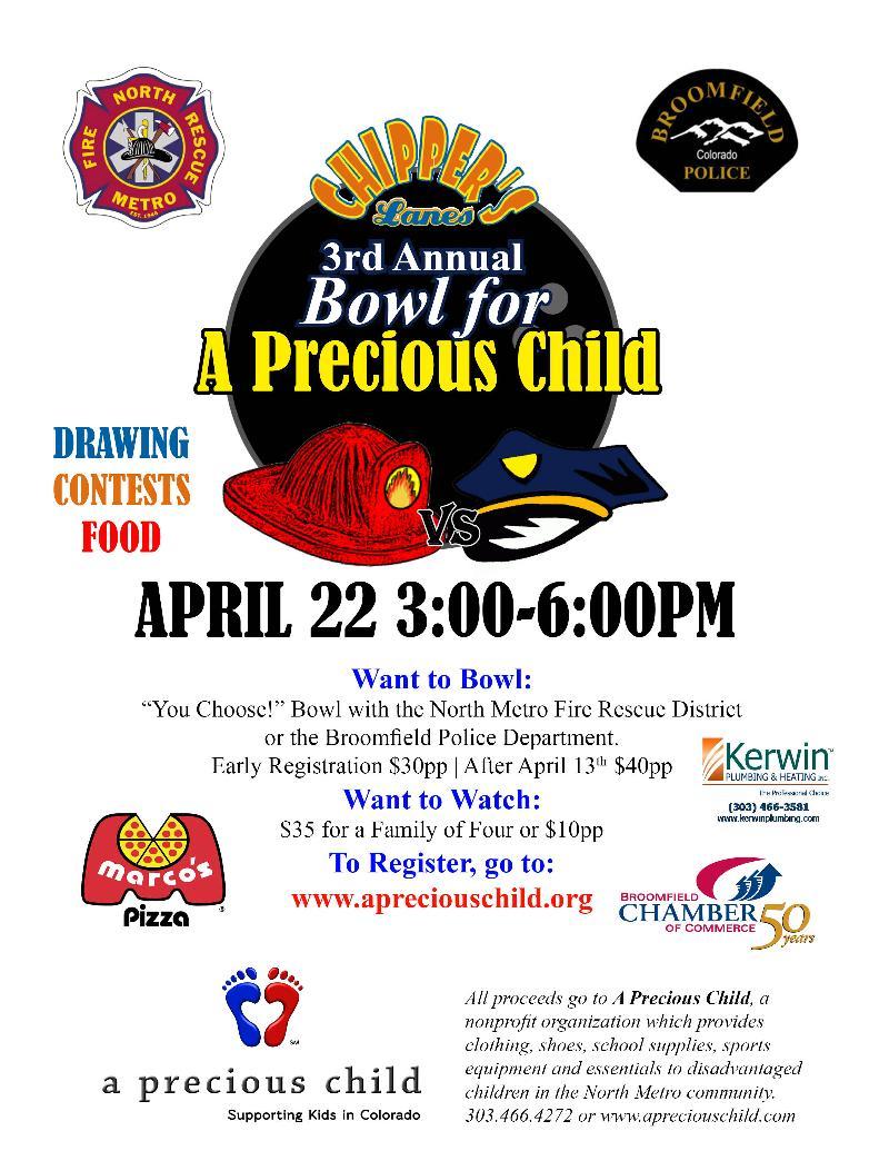 2012 Bowl For A  Precious Child flyer