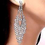 Rhinestone earrings 94