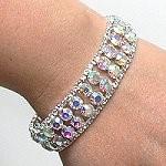 Iridescent Prom Bracelets