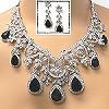 crystal necklace set 58