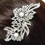 bridal side comb