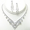 rhinestone necklace set