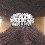 rhinestone ponytail holder