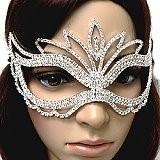 Venetian style rhinestone masks