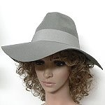 fall wide brim hat pinch front