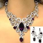 lavish crystal necklace set 98