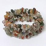 polished gemstone chip bracelet