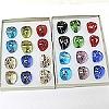 Murano style glass rings