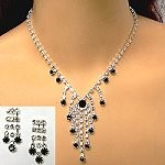 rhinestone necklace set with color highlights